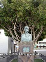 Statue Viera y Clavijo Los Realejos Alto Tenerife