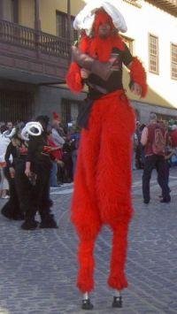 Stilt carnival costume Puerto de la Cruz