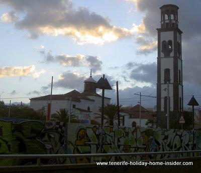 Street art Graffiti by historical buildings
