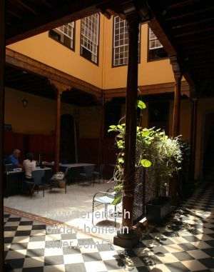 Sun kissed indoor hotel yard La Orotava