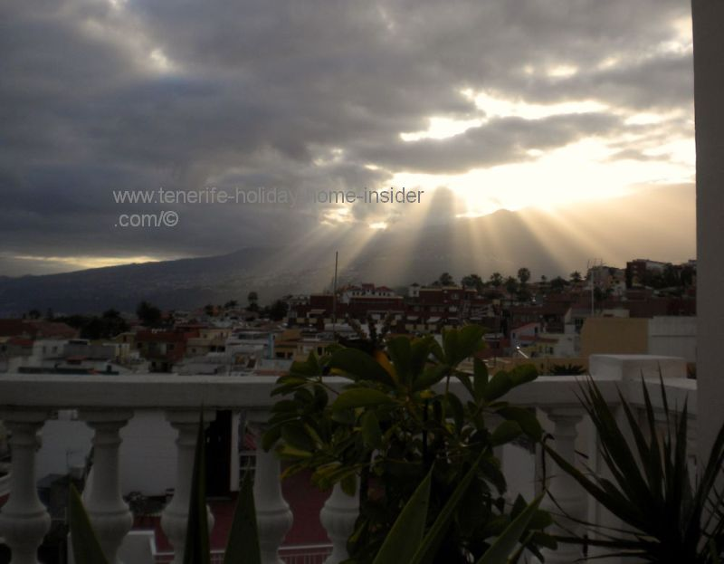 Sun-up on April 10,2016 over Puerto de la Cruz