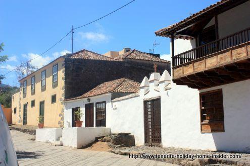 Tacoronte old quarters Casco Antiguo with Plaza Iglesia Catarina Martir.