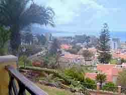 View of Puerto de la Cruz from the Mirador below the Taoro Hotel.