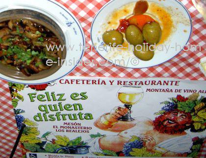 Tapas food details by Mesón Monasterio of Los Realejos in Tenerife