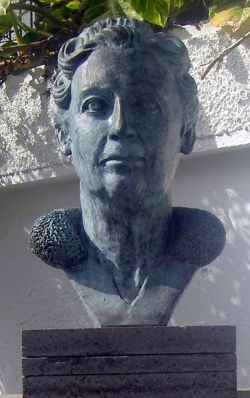 Tenerife Agatha Christie Monument of La Paz Puerto de la Cruz.