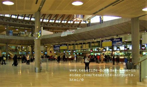 Tenerife airports Los Rodeos TFN baggage check-in lobby all in one hall