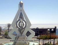 Tenerife art monument by Cesar Manrique outside Parque Maritimo