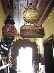 Tenerife art work of a Brass lamp of Garachico