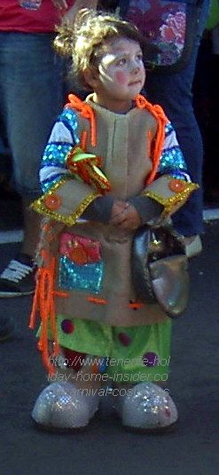 Tenerife attractions the cutest carnival clown