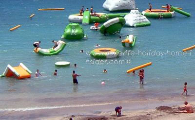 Tenerife beach water toys equipment