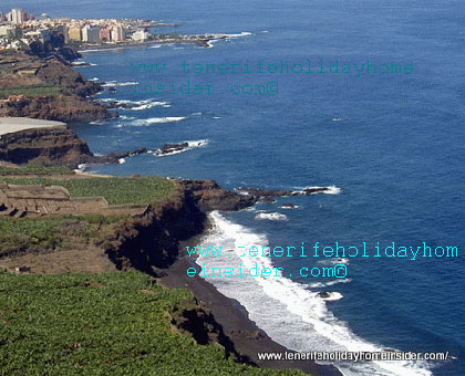 Tenerife beaches Orotava shore line