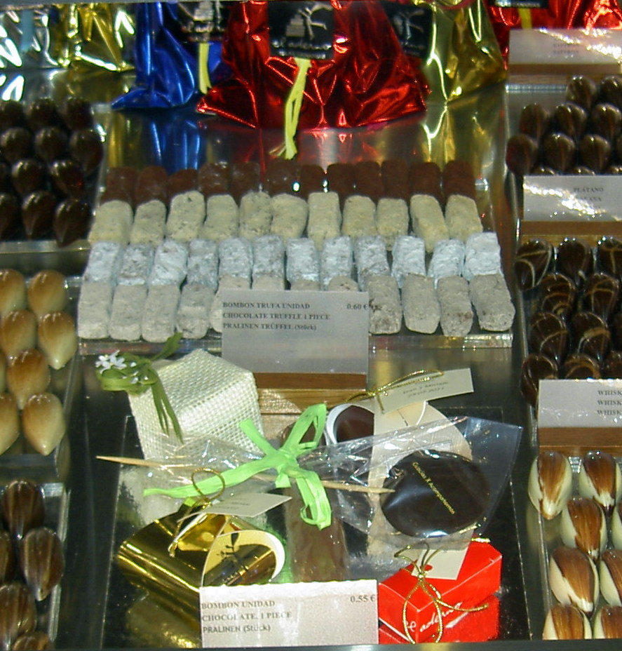 Tenerife chocolates made in Tenerife.