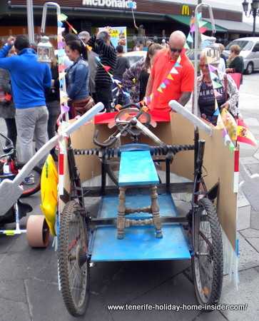 tenerife craftwork vehicle for carnival