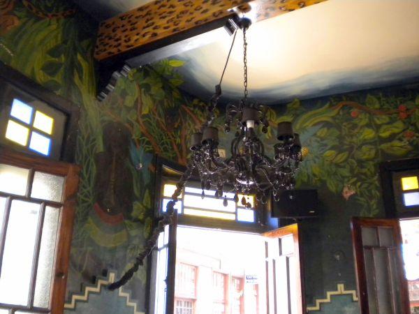 Tenerife details Cafe Ebano interior.