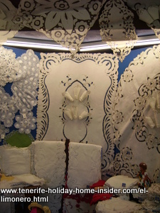 Tenerife embroidery called Calados for dressing up tables