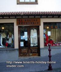Tenerife festival shop El Molino Artesania of La Orotava.