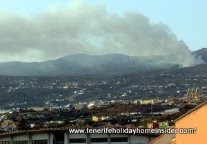Tenerife fires Palo Blanco August 15,  2012