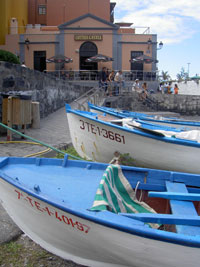 Tenerife fishing boats Puerto Cruz habour