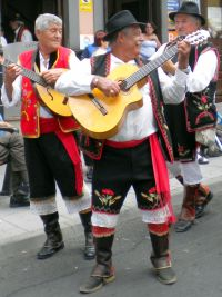 Tenerife folk musicians that are dressed the part.