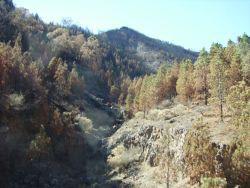 Fire damage erosion