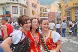 Romeria festival Tenerife girls at Los Realejos