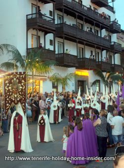 Tenerife Good Friday Procession Procesion Magna of Puerto de la Cruz.