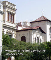 Tenerife houses of liberty style or art nouveau by the Ramla in the city Santa Cruz