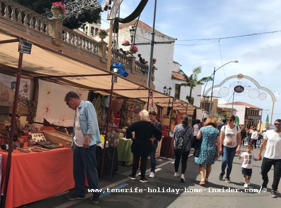 Tenerife in May crafts fair in Realejos where craftworks as well as homemade food, such as cheese and pastries are sold