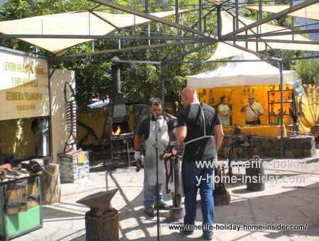 Tenerife iron blacksmith Moises Afonso from Icod de los Vinos