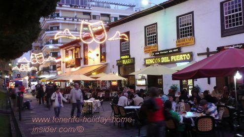 Tenerife nightlife Plaza del Charco Puerto de la Cruz.