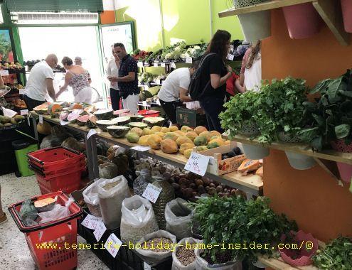 Tenerife Mercado Abierto (open market zone) with farmer shops - La Longuera photo example