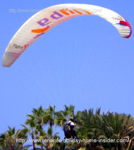 Tenerife paragliding with pilot and wing