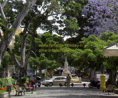 Tenerife Rambla del Santa Cruz of the capital of the biggest Canary Island.