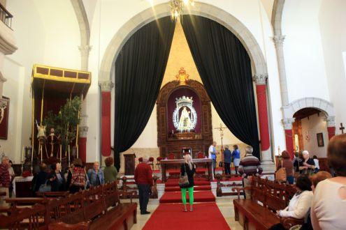 Tenerife Semana Santa at the island Santuary church of Our Lady of Mount Carmel at San Agustin.