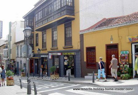 Puerto de la Cruz shops in Calle Dr.Ingram Puerto de la Cruz