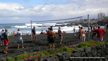 Tenerife sports handball by the beach Punta Brava