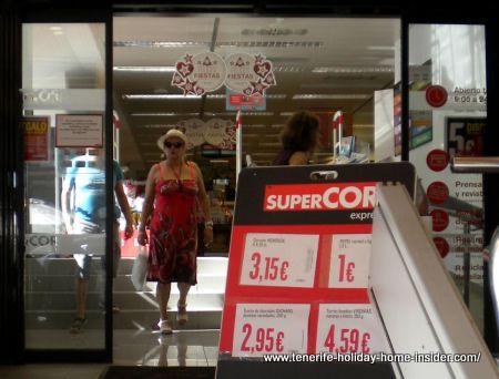Tenerife Supercor Plaza del Charco branch in Puerto de la Cruz