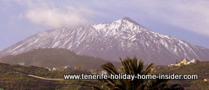 Tenerife Teide with snow landscape picture