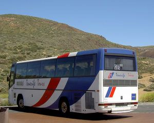 Tenerife tours coach bus el Portillo  Centre Tenerife