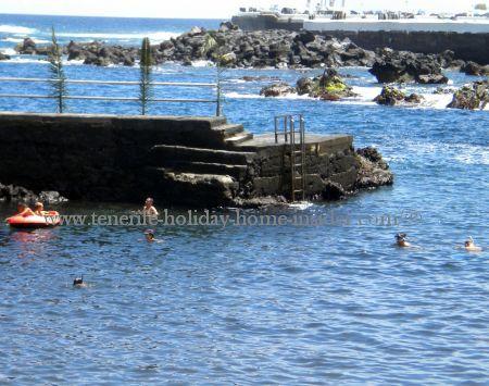 Tenerife town beach with Jetty San Telmo