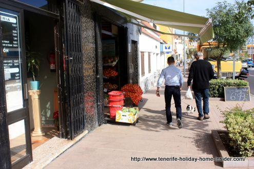 Tenerife village life of Toscal Los Realejos at the height of the Shell station.