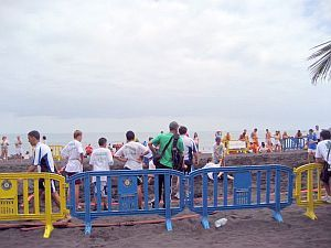 Tenerife beach volley ball Puerto Cruz