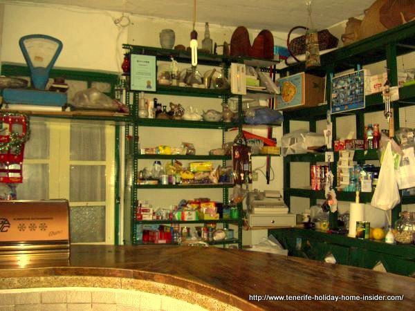 Teno Alto bar with country shop that sells  important basics to the local community.