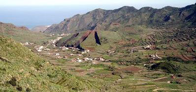 Teno mountain range farm lands Tenerife