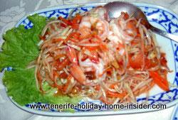 Thai Papaya salad Ruen Thai Restaurant