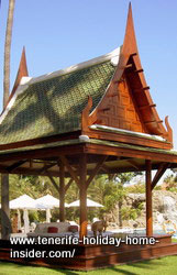 Thai temple treatment temple of Hotel Botanico Tenerife