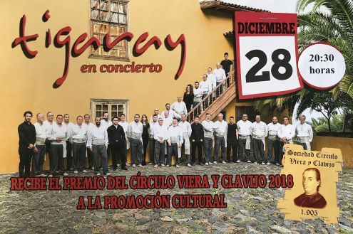 Folk band Tigary Los Realejos concert and remuneration on December 28 of 2018