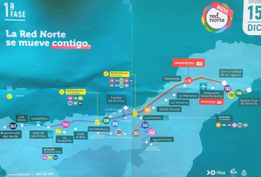 The first phase of a Cambio de la Red Norte de Guaguas which concerns a change of the Northern Guagua network