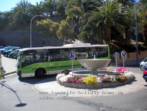 Titsa Guagua bus the public transport besides Tranvia of the Tenerife as well as of all Canary Islands