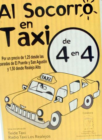 To the Socorro by taxi sharing - A poster.